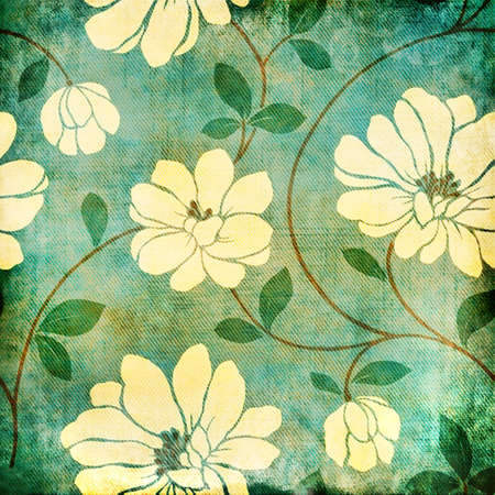 retro floral background photo