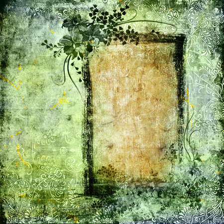 grunge background with frame