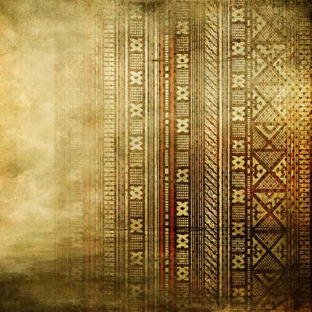 arte africano: de fondo antiguo con adornos de �frica Foto de archivo