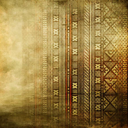 brown pattern: old background with african ornament