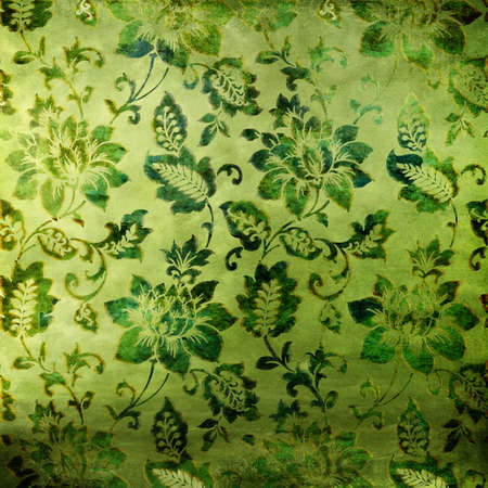 green floral background in oriental style Stock Photo