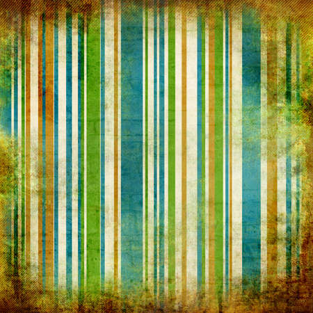 striped background with grunge borders photo