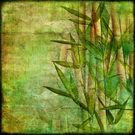 oriental bamboo paper Stock Photo - 8240643