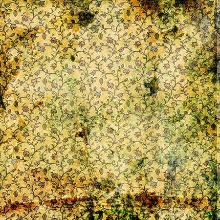 fabrick: vintage floral background Stock Photo