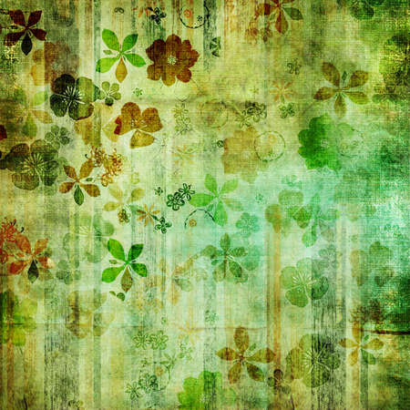 grungy green floral background photo