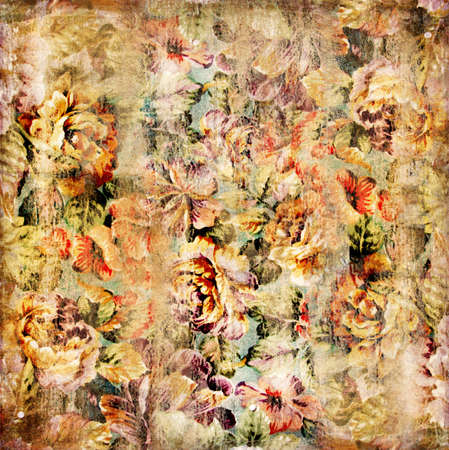 old floral background photo