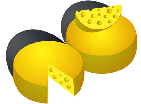 cheez: Cheese isolated on white background. Vector Illustration