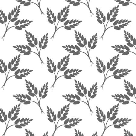 Pattern with wheat ears. A seamless vector background.