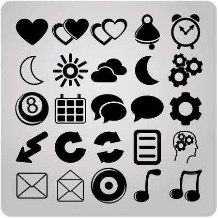 set of 25 vector web icons Vector