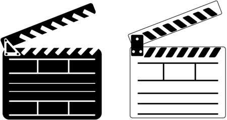 flick: Cinema Clapper - Vector illustration