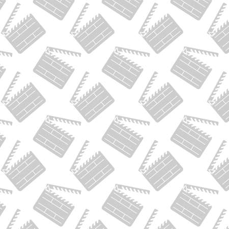 flick: Pattern with movie cinema clapper. Seamless pattern can be used for wallpapers, pattern fills, web page backgrounds, surface textures. Illustration