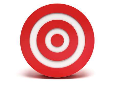 sharpshooter: Illustration of 3d darts target isolated on white back Stock Photo