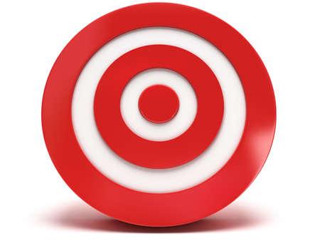 marksmanship: Illustration of 3d darts target isolated on white back Stock Photo