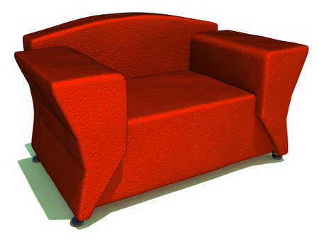 red sofa: illustration of red sofa