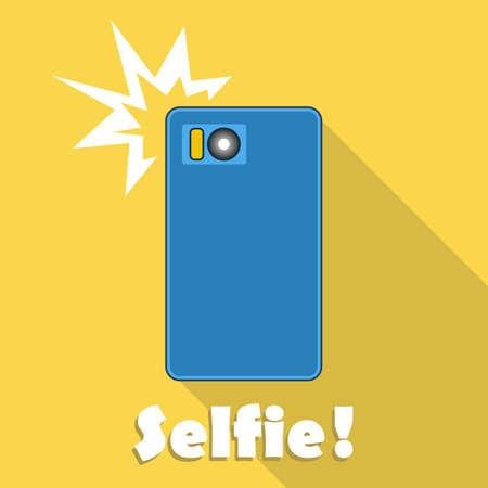 news update: Taking selfie on smartphone