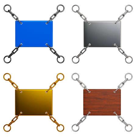 Reeks 3D Label tablets - plaats voor een inscriptie. Plaats voor uw tekst hier. Sjabloon voor uw ontwerp.