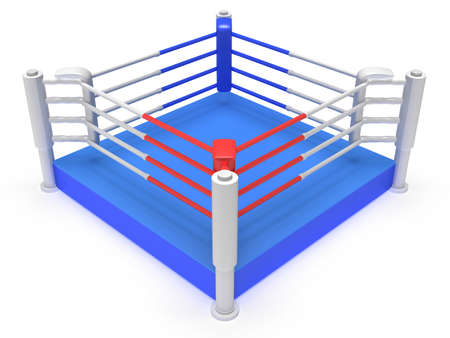 grapple: Boxing ring. High resolution 3d render. Sport, competition, match, arena concept.