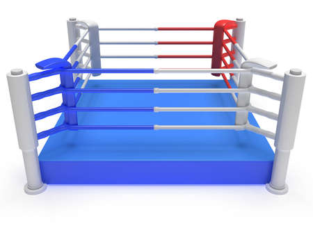 boxing ring: Boxing ring. 3d render Stock Photo