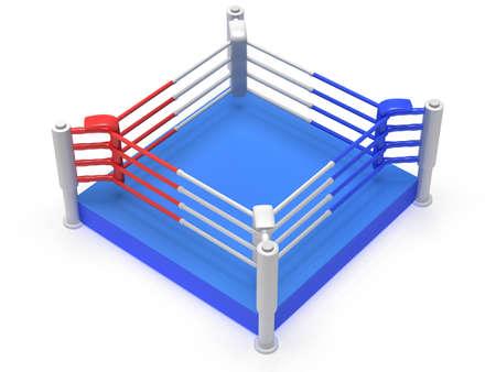 bleachers: Boxing ring. 3d render Stock Photo