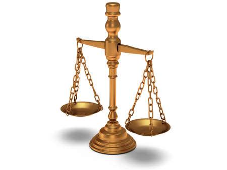 Scales justice sur blanc. Juge, Droit, Vente aux enchères, le concept de médecine. 3d Render. Fond blanc isolé. Banque d'images - 38758693