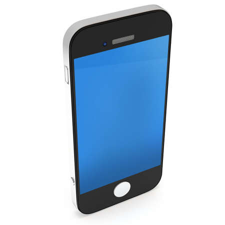multitask: Smartphone on white. 3D render isolated on white background