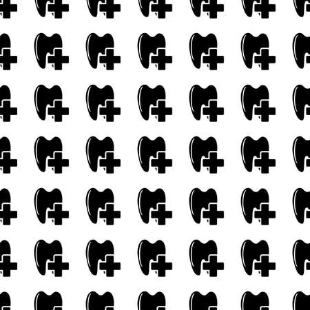 ouch: Vector seamless pattern. Tiling ornament. Endless texture.  Seamless monochrome background on white.