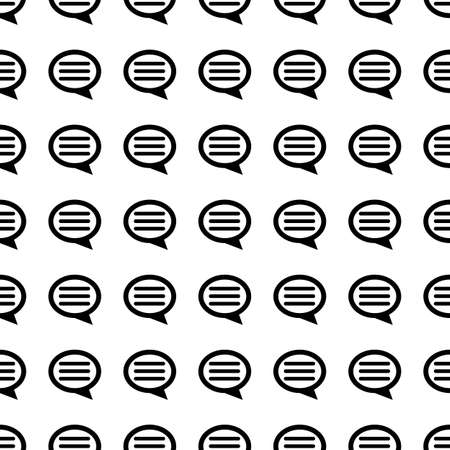 chat bubble vector: Chat bubble vector icon seamless pattern, tiling ornament on white.