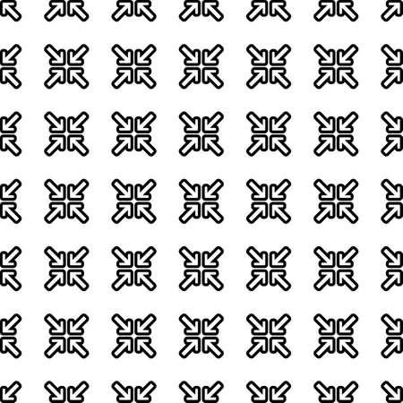 minimize: Minimize arrows vector icon seamless pattern, tiling ornament on white.