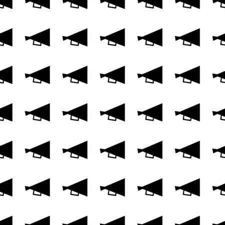 print icon: Loudspeaker vector icon seamless pattern, tiling ornament on white.