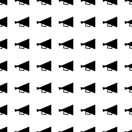 retro icon: Loudspeaker vector icon seamless pattern, tiling ornament on white.