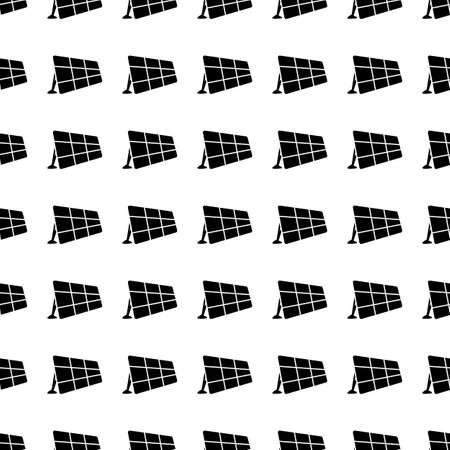 solar battery: Solar battery vector icon seamless pattern, tiling ornament on white.