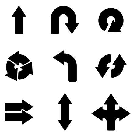 arrow target: Arrows web and mobile icons collection isolated on white back. Vector symbols.