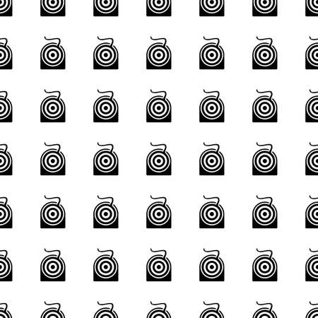 halitosis: dental floss icon seamless pattern, tiling ornament on white. Illustration