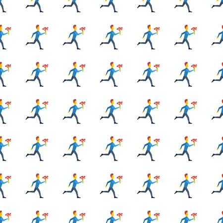 hurrying: hurrying to date icon seamless pattern, tiling ornament on white.