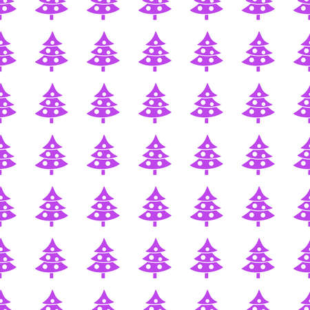giftware: Christmas trees icon seamless pattern, tiling ornament on white.