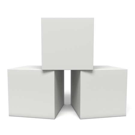 Boîtes blanches isolé sur fond blanc. concept Transport Banque d'images - 47225987