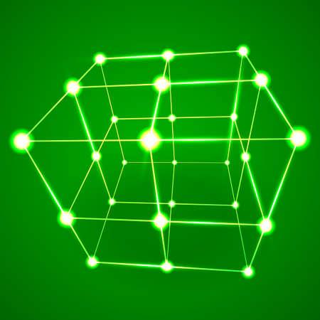 mesh: Wireframe Mesh Cube