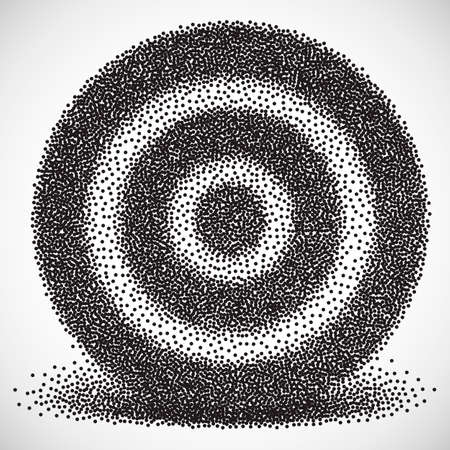 precisely: Dotwork Halftone Aim Target Icon