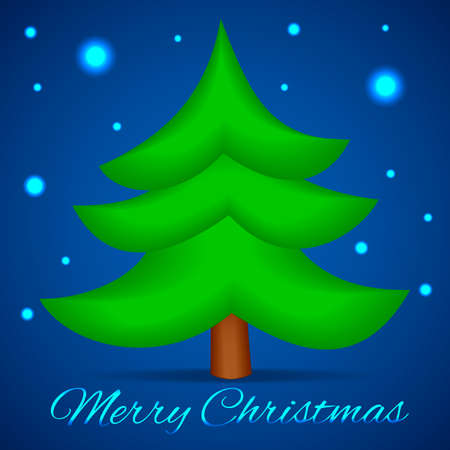 xmas background: Christmas Tree. Vector Xmas Background. Merry Christmas Wishes Card