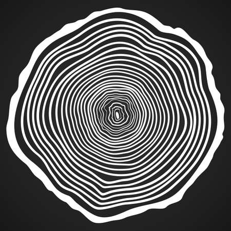 Vector Tree Rings Background and Saw Cut Tree Trunk.