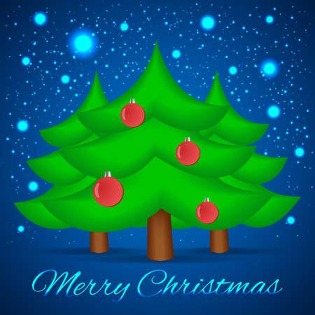 xmas background: Christmas Tree. Xmas Background.