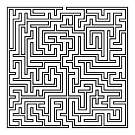 Doolhof. Labyrint met in- en uitstappen. Vind de Way Out Concept. Vervoer. Logistiek achtergrond concept. Zakelijke Path Concept. Vector Illustratie.