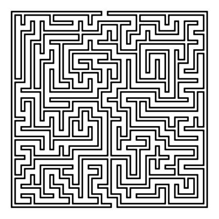 Maze. Labyrinth with Entry and Exit. Find the Way Out Concept. Transportation. Logistics Abstract Background Concept. Business Path Concept. Vector Illustration. Vettoriali