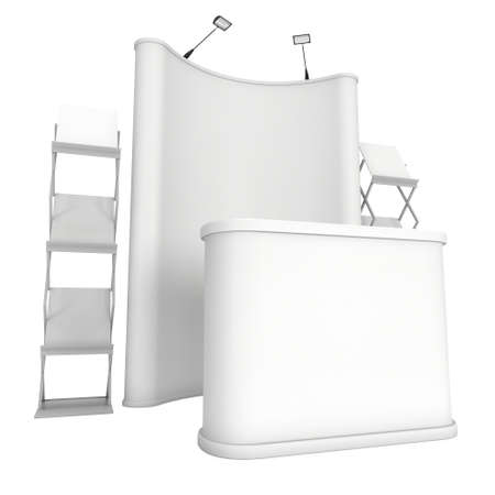 Trade Show Booth And Magazine Rack Stand For Magazines White Stock Classy Magazine Holder Template