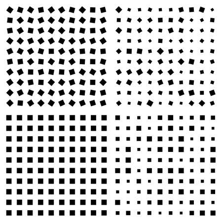 opt: Optical illusion. Squares Patterns. Optical Background Vector Illustration. Optical effect with squares.