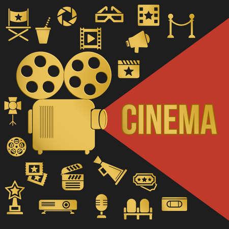 Kino Retro Videoprojektor Mit Spotlight. Filmprojektor Höhepunkte ...