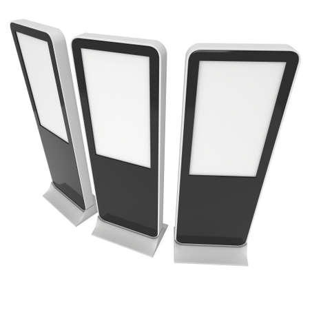 lcd: LCD Kiosk Stands with different angles.