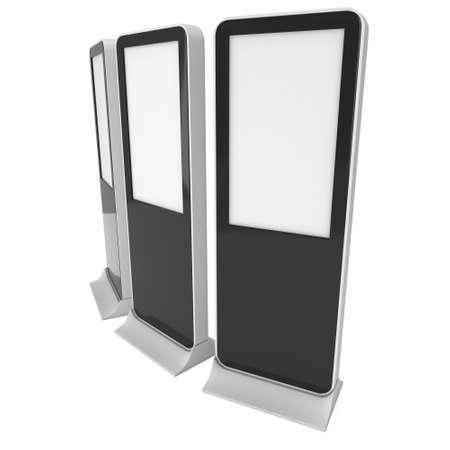 exhibidor: Soportes LCD Kiosk con diferentes �ngulos.