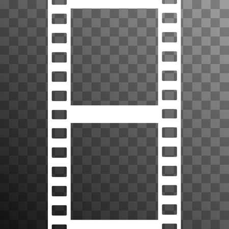 strip design: Vector Film Strip Illustration on Transparent Background. Abstract Film Strip design template. Film Strip Seamless Pattern.