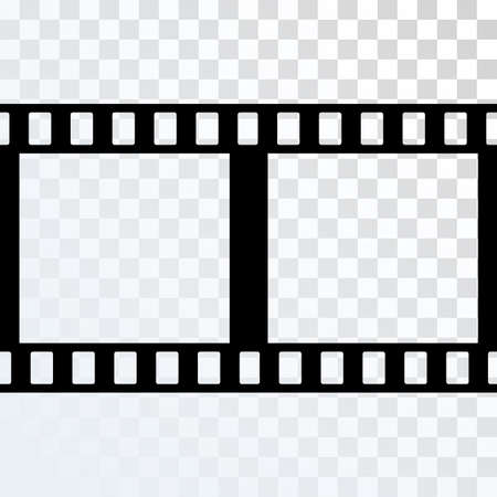 strip design: Vector Film Strip Illustration on Transparent Background. Abstract Film Strip design template. Film Strip Pattern. Illustration